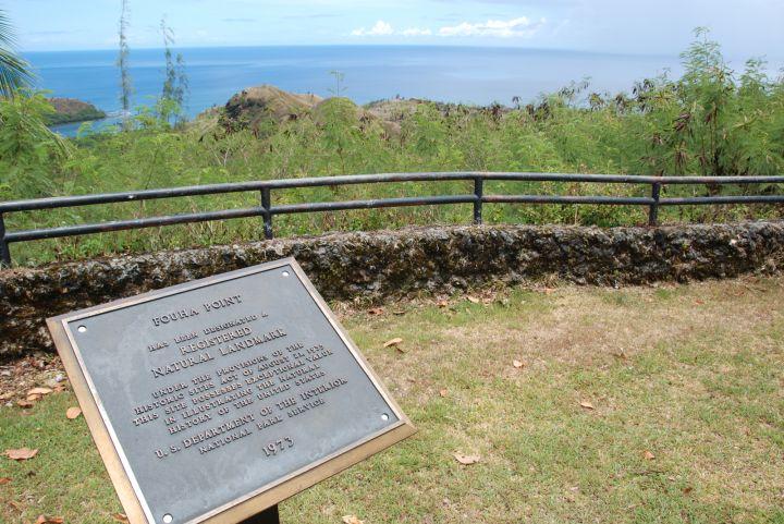要一覽關島西南部海岸線最適合的地點之一就是色堤灣瞭望台Cetti Bay Overlook。