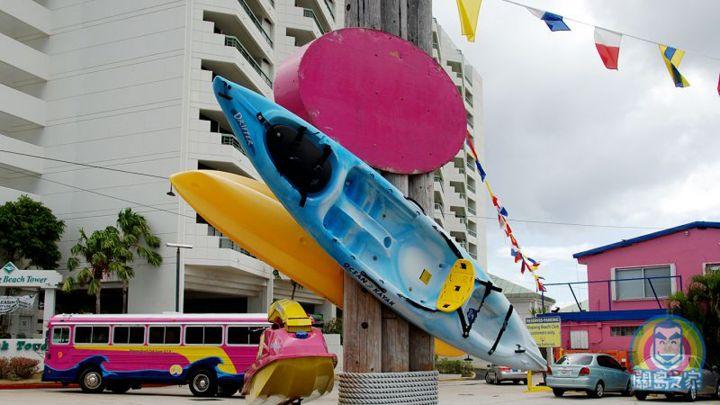 關島最粉紅的ABC海灘俱樂部,位於美麗的亞加納灣中心。