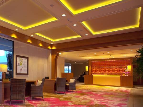 大廳營造日系飯店精緻高級氛圍。