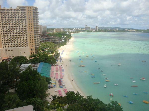 房間望出去的海邊景色。(圖片來源/關島之家成員Issa Yeh)