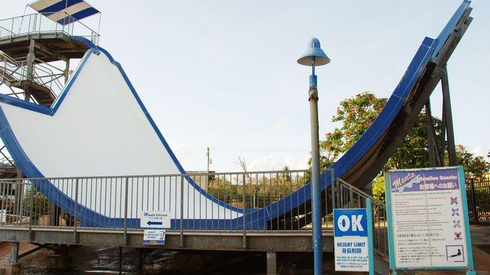 遊樂園中最受歡迎的設施,莫過於最新啟用,同時也是關島獨一無二的月灣滑水道The Manta。