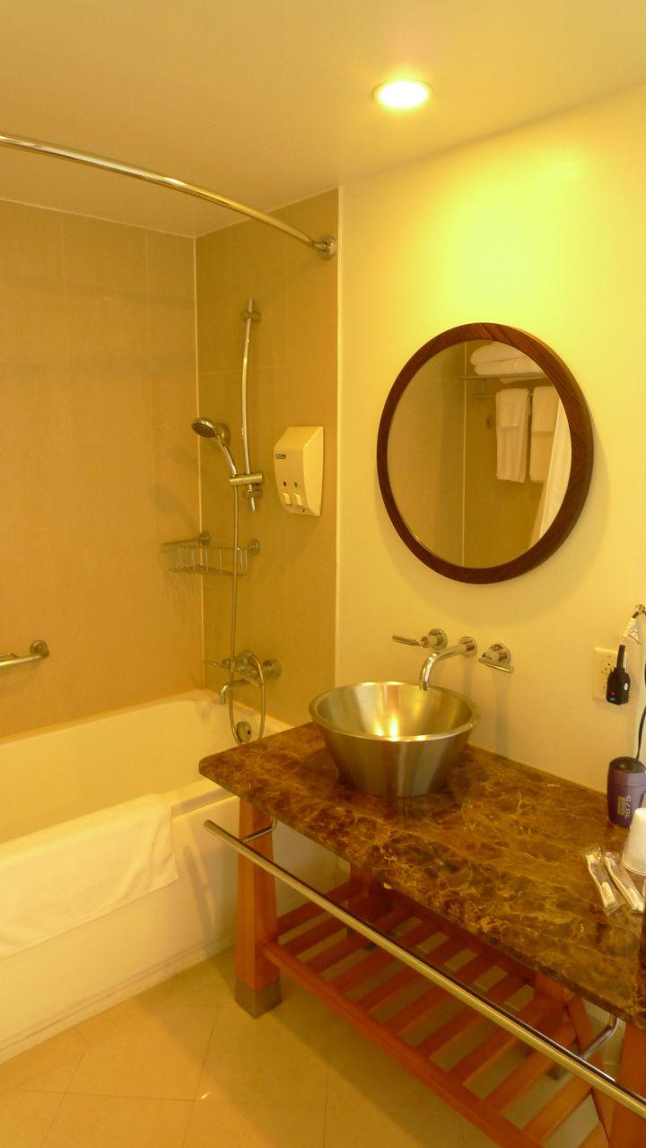 浴室雖然沒有特別搶眼之處,但也乾淨整齊。
