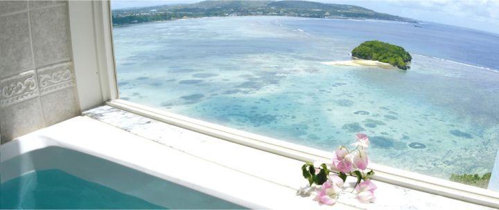 Onward Tower廁所可以邊泡澡邊看海。