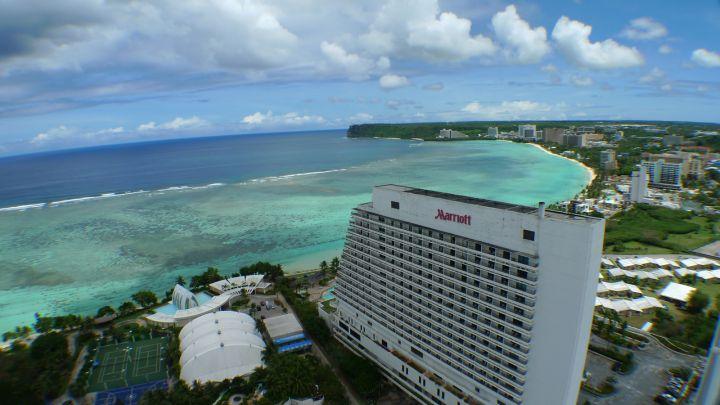 關島太平洋之星飯店大樓外觀。