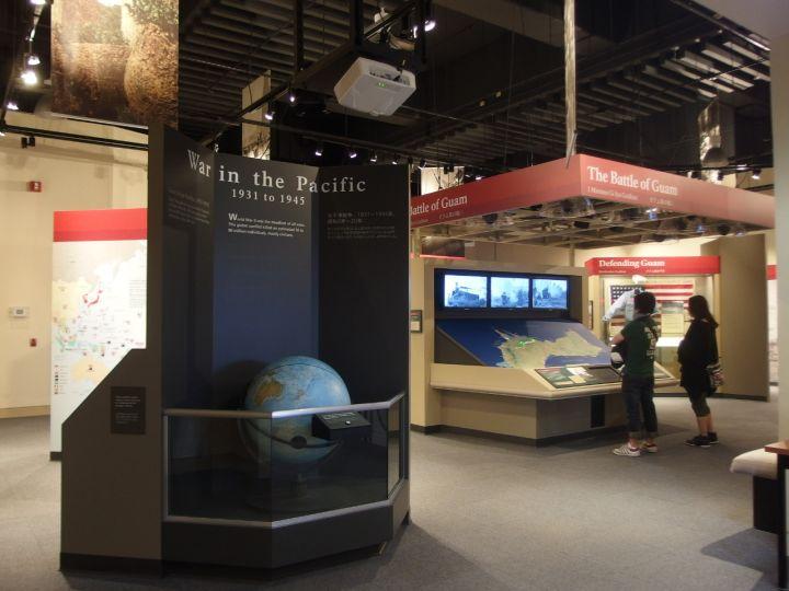 遊客中心內有展出博物館級的太平洋戰爭主題展示。