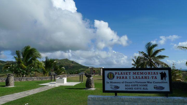 越戰紀念公園是紀念為越戰犧牲的關島人。