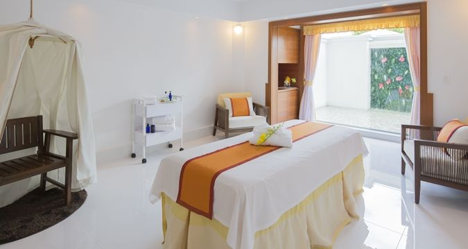 Ayualam Spa有完整的私人空間,在療程結束後,可以在專屬休息室內享用草本茶,休息片刻。