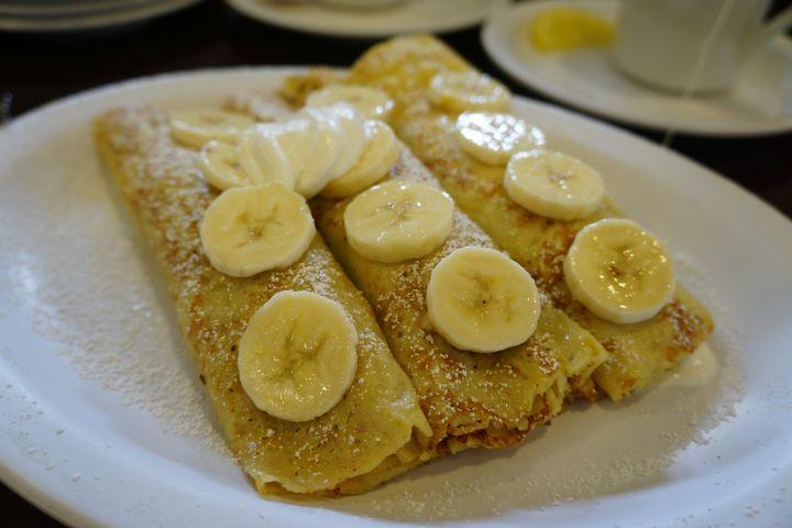 不太餓的時候,可以點一份香蕉煎餅解解饞。