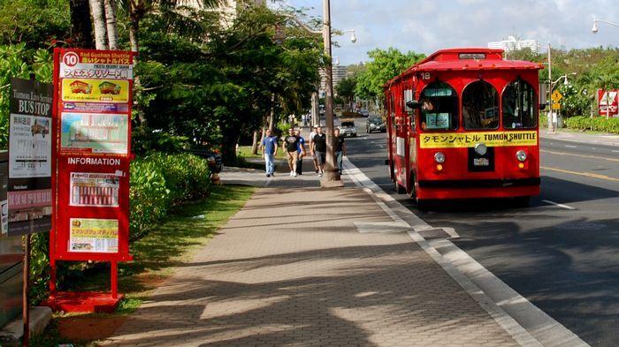 噹噹車是關島當地最受旅客喜愛的大眾交通工具。