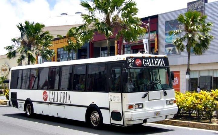 到關島旅遊,免費搭乘的DFS巴士是非常經濟的選擇。