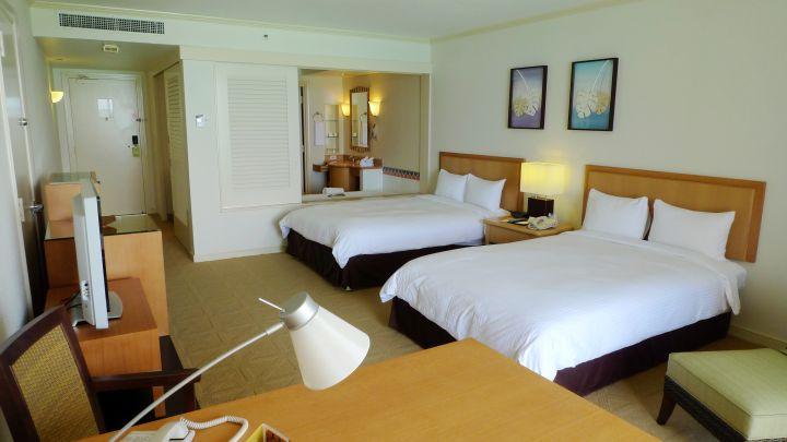 房間寬敞舒適,海島風格設計。