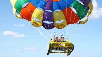 關島ABC海灘俱樂部-拖曳傘 Alupang Beach Club-Parasailing