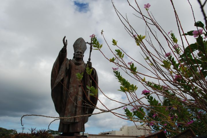 這座雕像是在1981年由當地居民集資興建。