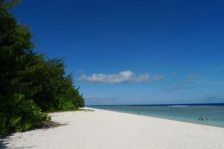 沙子白到都會反光的白呀!