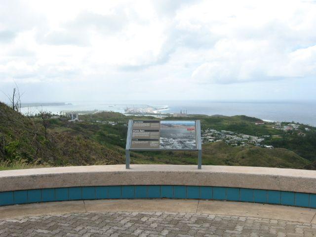 亞森瞭望台可眺望整個亞森灣,當時美日兩方激烈攻防的地點盡收眼底。