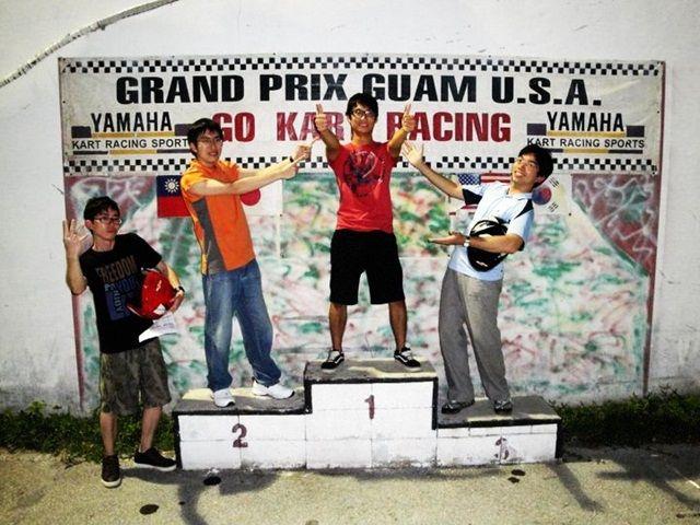 台灣的好手們,有機會到關島可以挑戰看看,把我們的國旗掛在這關島的賽車場上吧。