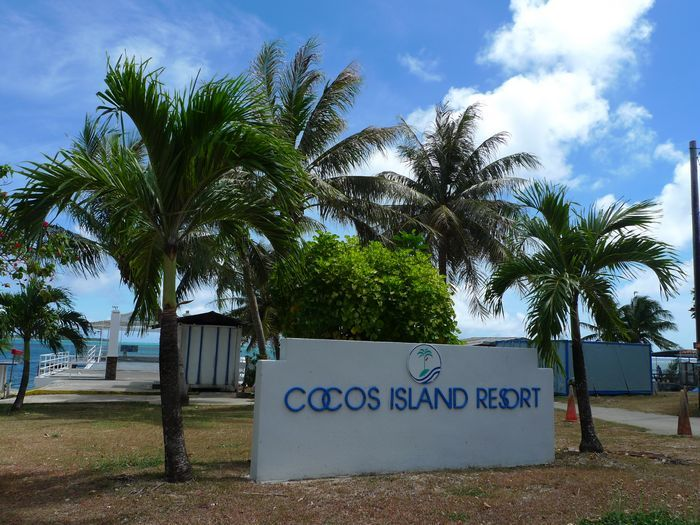 可可斯島Cocos Island Resort 位於關島南方約2英里處的海面上。