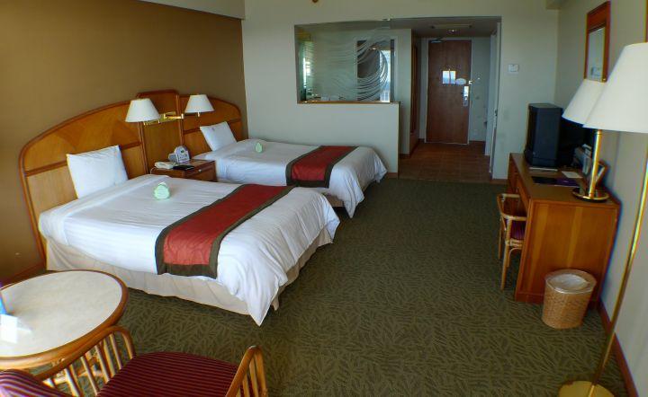 房間內部簡單乾淨,空間寬敞。