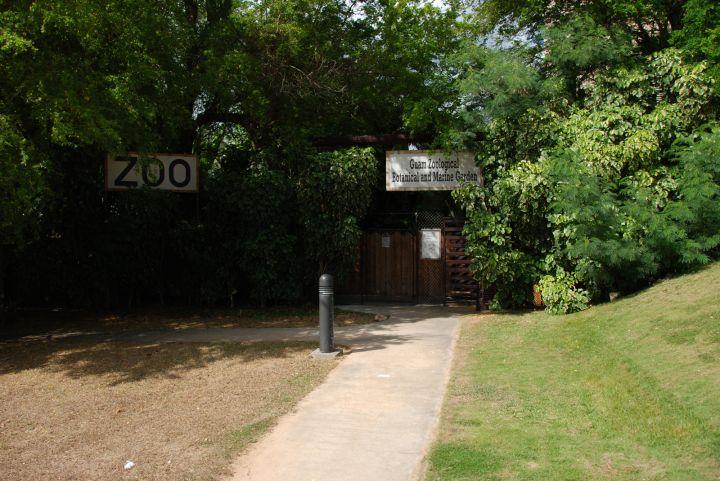 一旁的動物園是最有梗的設施。