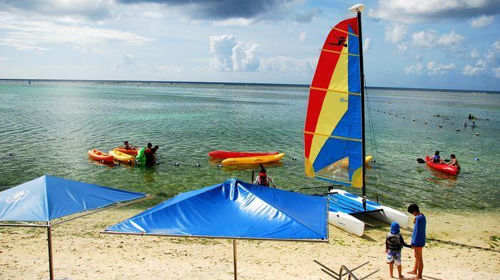 風帆體驗很熱門,記得提早排隊。
