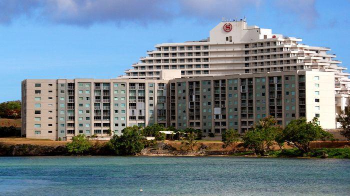 關島喜來登飯店外觀。