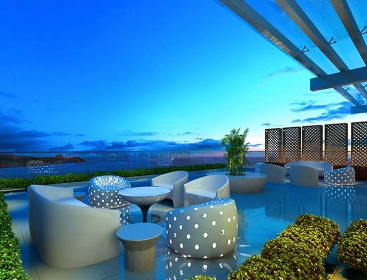 飯店走簡約舒適的現代摩登風格。
