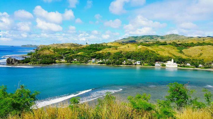 關島南部最美的村莊猶瑪特克Umatac在這能完整的俯瞰。(圖片提供/Jessie Chou)