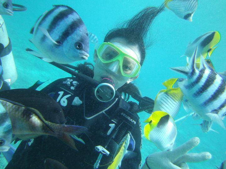 在關島體驗潛水不需要會游泳,也不需要潛水執照。