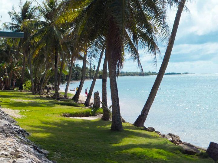 飯店附近的海邊。