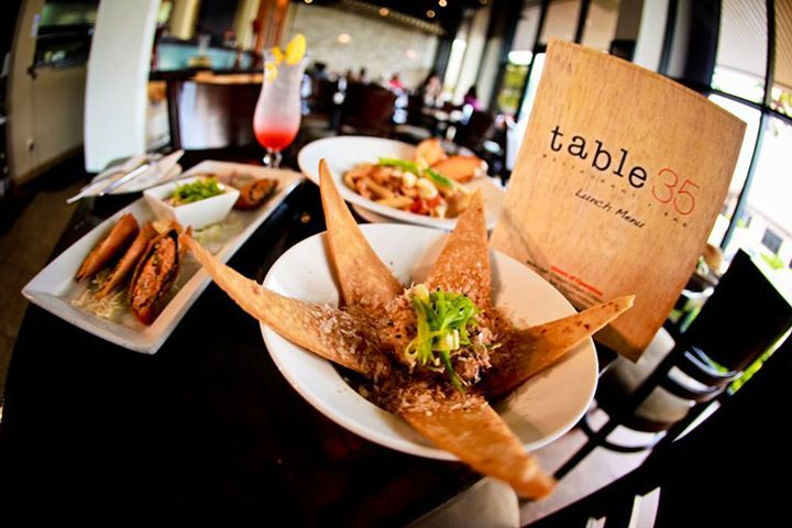 Table 35擁有寬敞舒適的用餐環境,帶有亞洲風格的創意美式餐點。