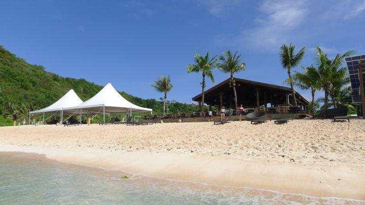 大自然的野味結合海島旅遊的調性,這是阿物對The Beach的感想。