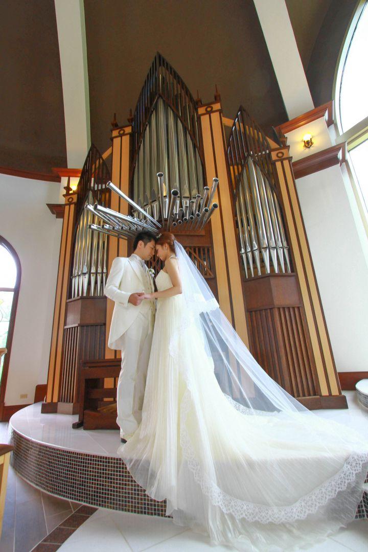 關島婚禮教堂中唯一以正統教會風格打造的。