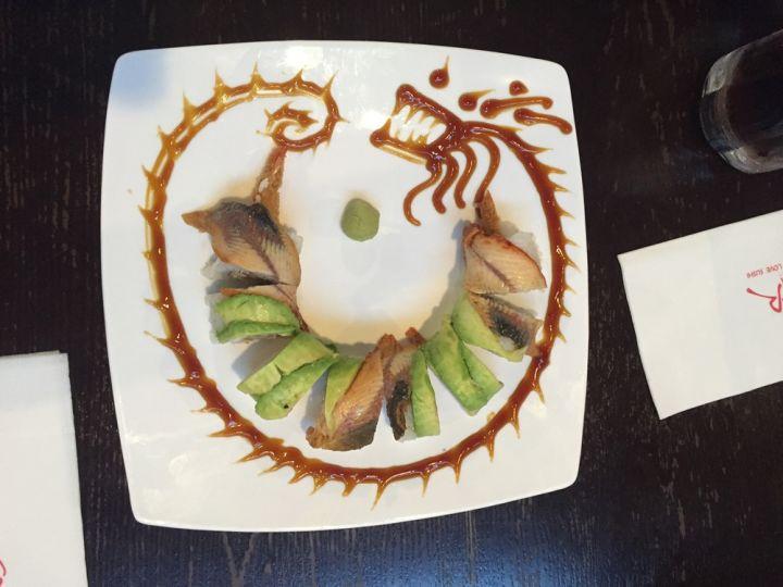 龍卷Dragon Roll,有點奇妙的擺盤。