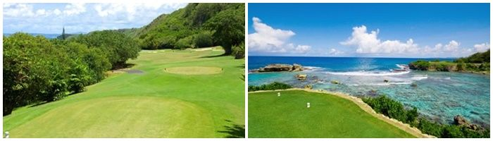關島唯一沿著濱海建造的高爾夫球場。