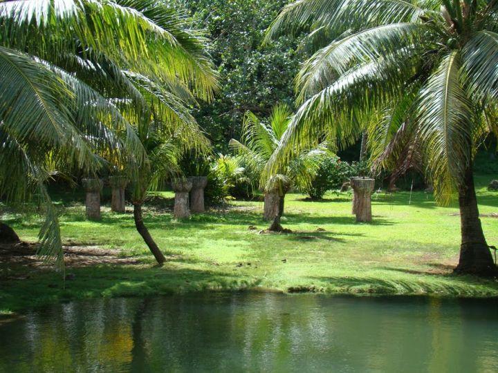 這裡是關島最古老的拉提石河岸唷。