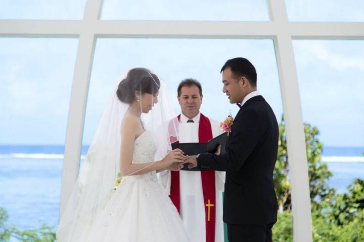 婚禮儀式中愛的進行式。