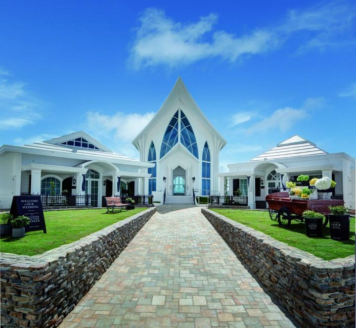 坐落於日航飯店內的水晶教堂。